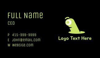 Green Worm Business Card