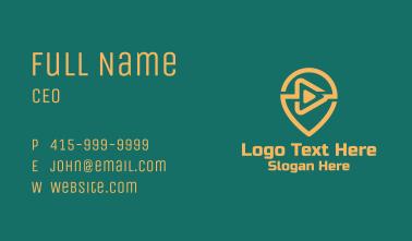 Orange Multimedia Button  Business Card
