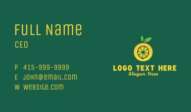 Yellow Lemon Letter O Business Card