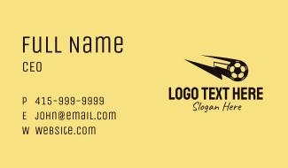 Lightning Soccer Ball Business Card