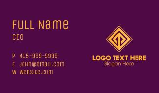 Golden Elegant Tile Business Card