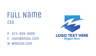 Blue Gradient Sea Waves Business Card