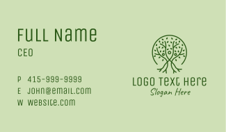 Green Tree People  Business Card