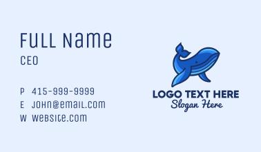 Blue Marine Whale Business Card