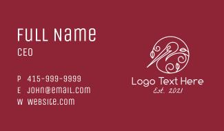 Pelican Line Art Business Card