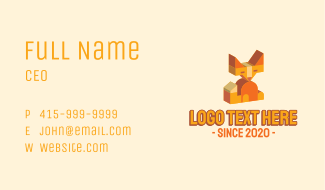 3d Geometric Fox Business Card