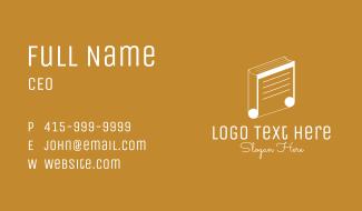 Music School Book Business Card