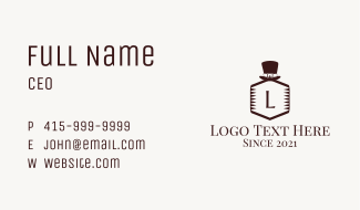 Classic Hat Letter Business Card