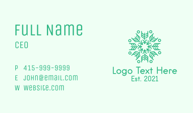 Feather Arrow Snowflake Business Card