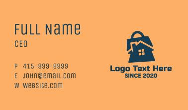 House Shopping Bag  Business Card