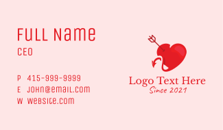 Devil Heart Escort  Business Card