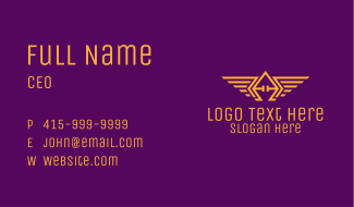 Golden Wings Badge Business Card