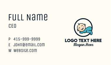 Smiling Baby Badge Business Card
