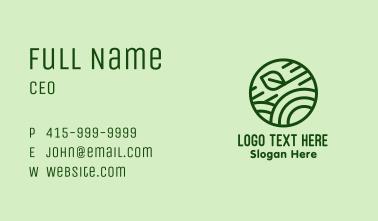 Green Organic Eco Circle Business Card