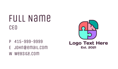 Mind Games Puzzle Business Card