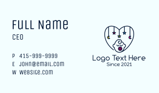Baby Heart Decoration  Business Card