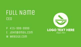 Green Mortar & Pestle Business Card