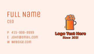 Minimalist Orange Beer Business Card