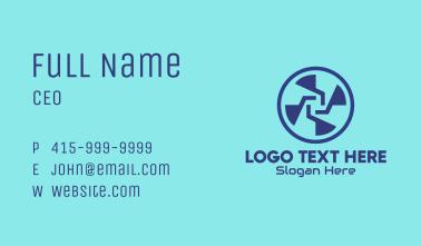 Blue Digital Fan Business Card