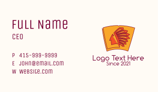 Native Tribe Relic  Business Card