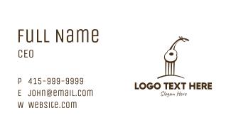 Guitar Giraffe Business Card