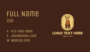 Rustic Rabbit Emblem Business Card