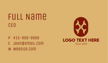 Medieval Shield Pattern Business Card