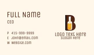 Beer Bottle Letter B Business Card