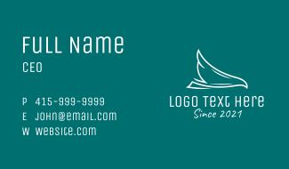 White Airline Falcon Business Card