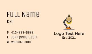 Desk Study Lamp  Business Card
