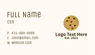 Chocolate Chip Cookie  Business Card