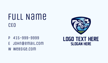 Soccer Rhino Shield Business Card