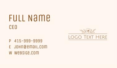 Aesthetic Floral Wordmark Business Card