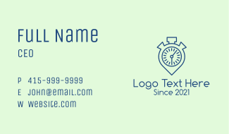 Timer Location Pin  Business Card