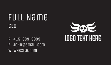 Winged Skull Pilot Business Card