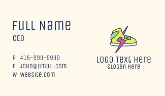 Lightning Bolt Sneakers Business Card