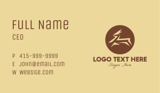 Brown Gazelle Business Card