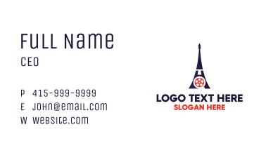 Eiffel Tower Paris Reel Business Card