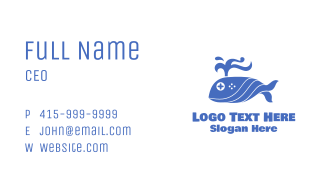 Blue Whale Gaming Business Card