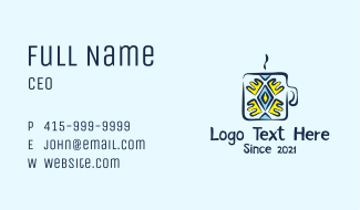 Aztec Coffee Shop  Business Card
