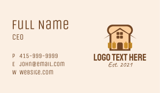 Bread Loaf House  Business Card