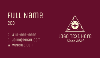 Astral Triangle Eye Business Card