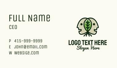 Twin Head Leaf  Business Card