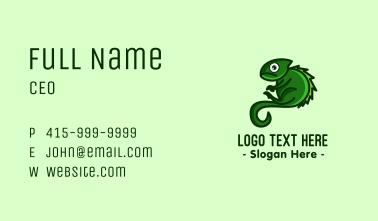Green Iguana Mascot Business Card