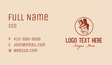 Top Hat Monocle Man Business Card