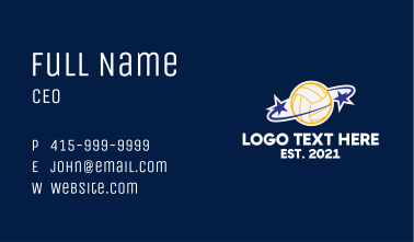 Star Volleybal Planet  Business Card