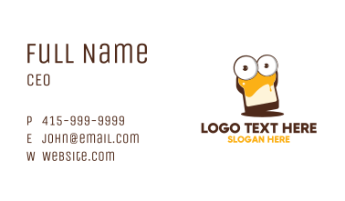 Toasted Bread Bakery Business Card