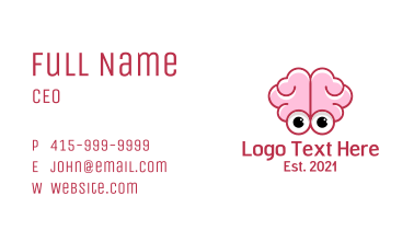 Human Brain Cartoon Business Card