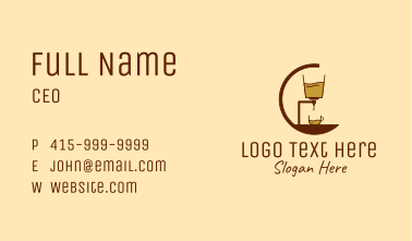 Coffee Espresso Machine  Business Card