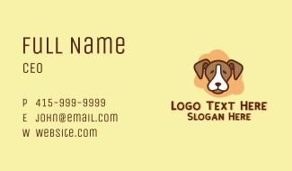 Brown Pet Dog Business Card